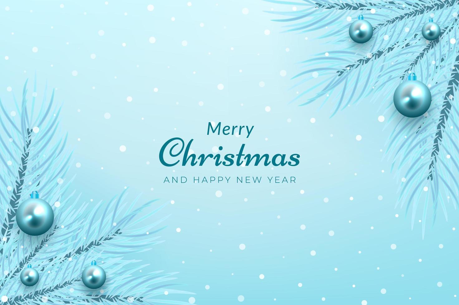 inverno celebrazione ramo di un albero angolo e ornamento blu design vettore