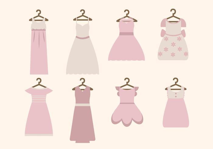 Vettori del vestito della donna piatta