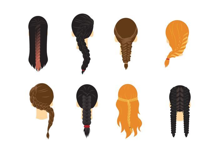 Vettore di capelli di treccia