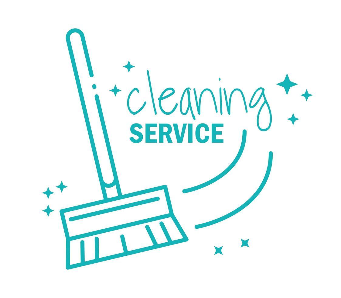 icona del pittogramma di servizio di pulizia vettore