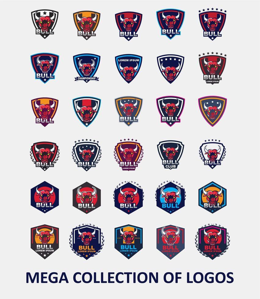 collezione modello logo toro vettore