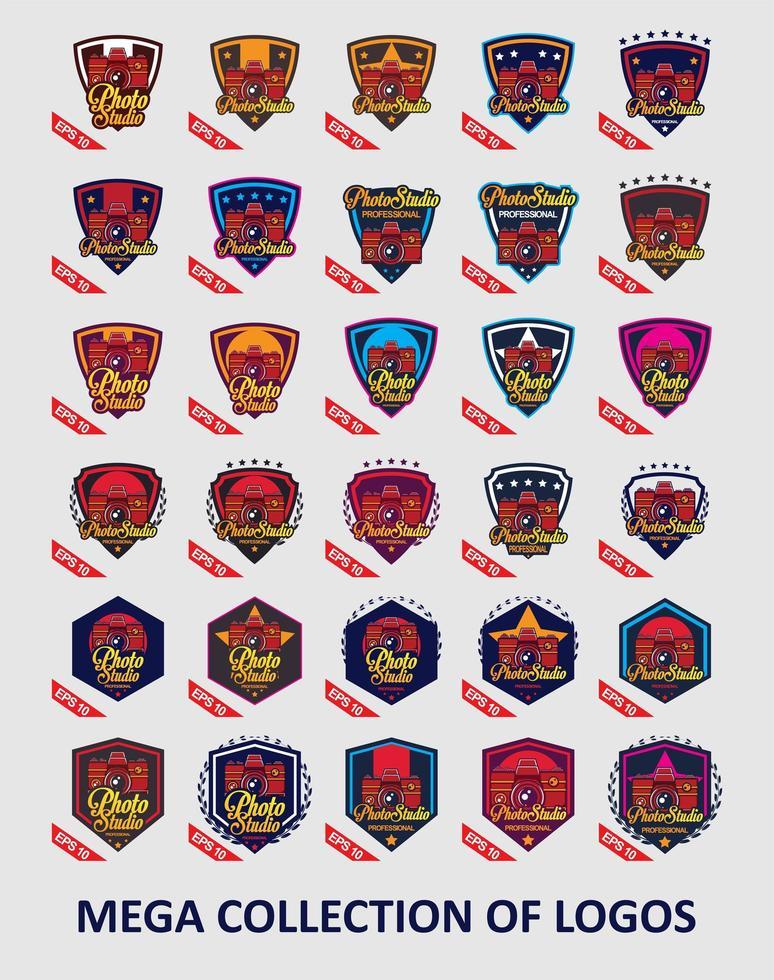 raccolta di modelli di logo della fotocamera vettore