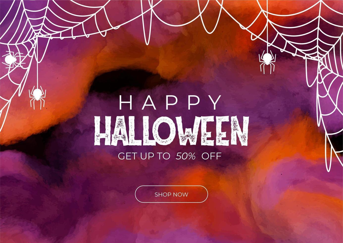 banner di vendita di halloween vettore