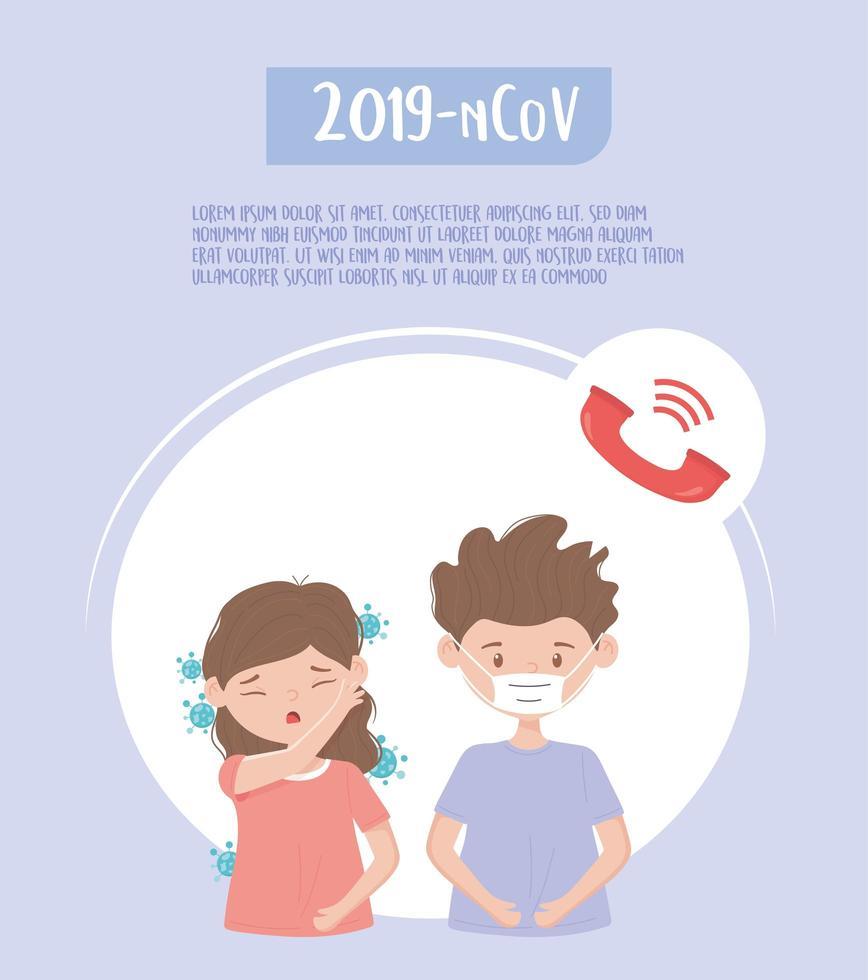 poster del modello di supporto medico del coronavirus vettore