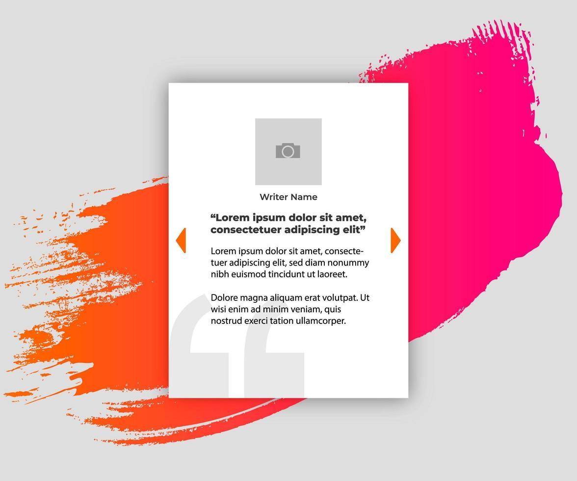 banner per preventivo con splash colorato vettore