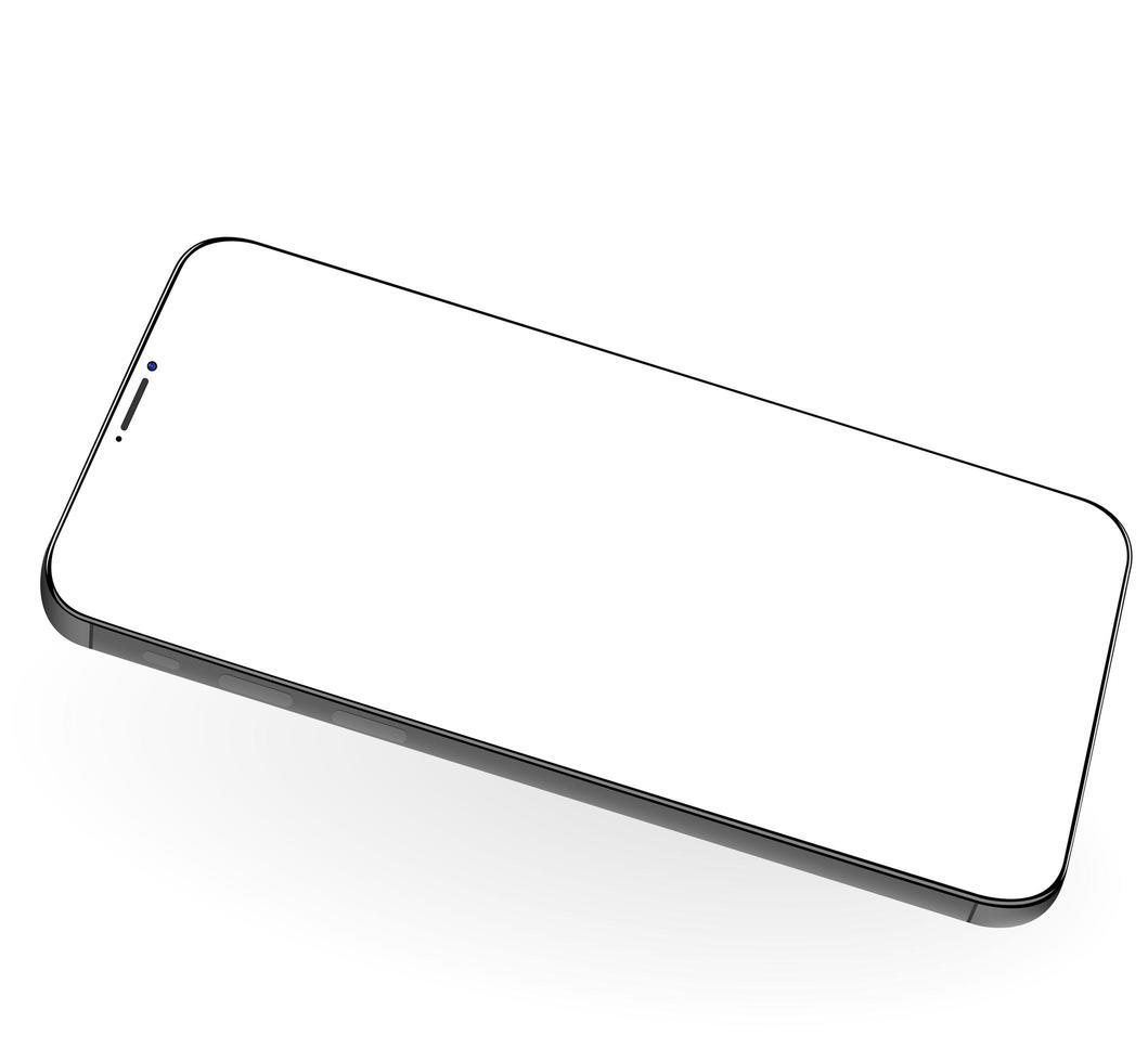 modello di telefono per infografica o presentazione vettore