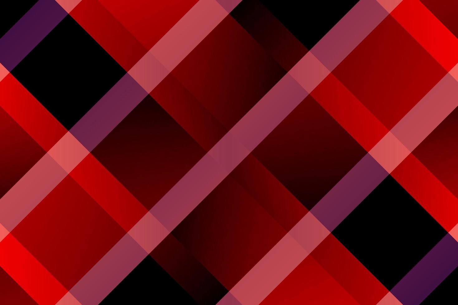 motivo scozzese con linee diagonali rosse e nere sfumate vettore