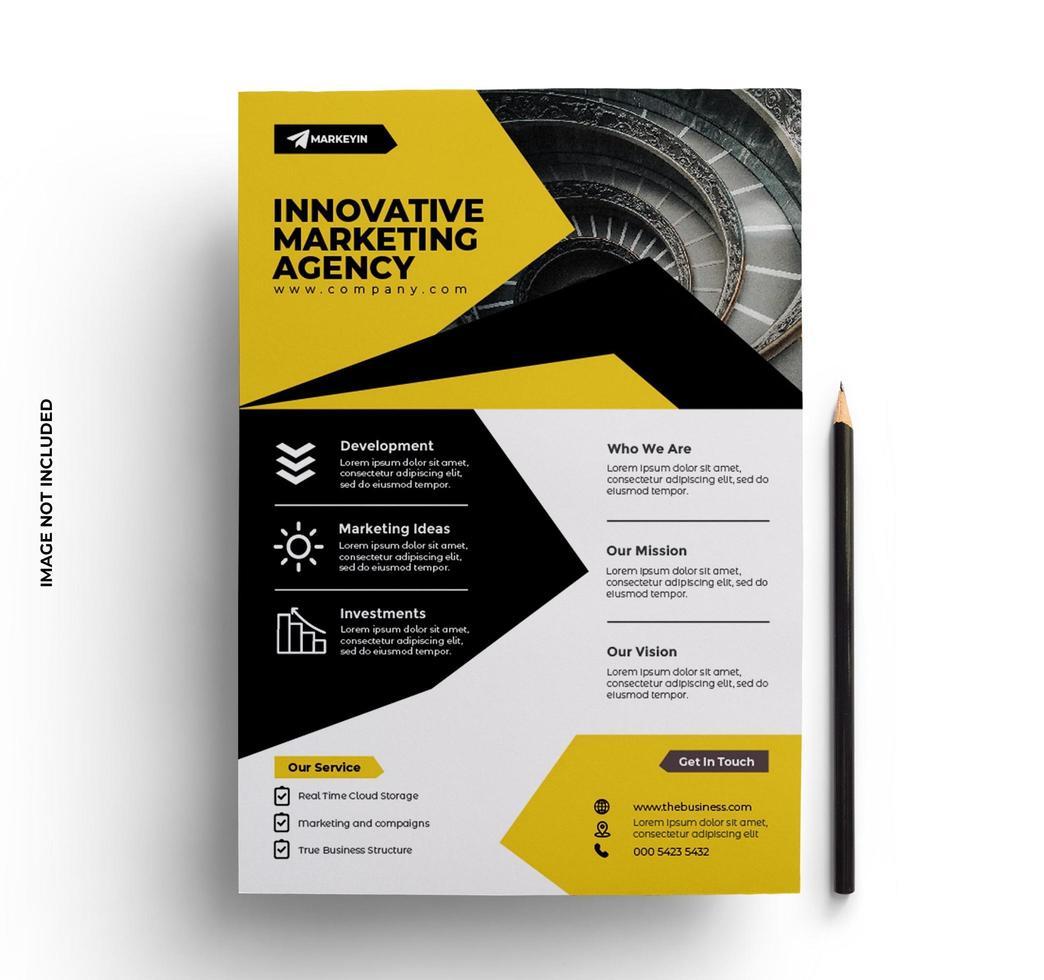 modello pronto per la stampa di design brochure flyer aziendale vettore