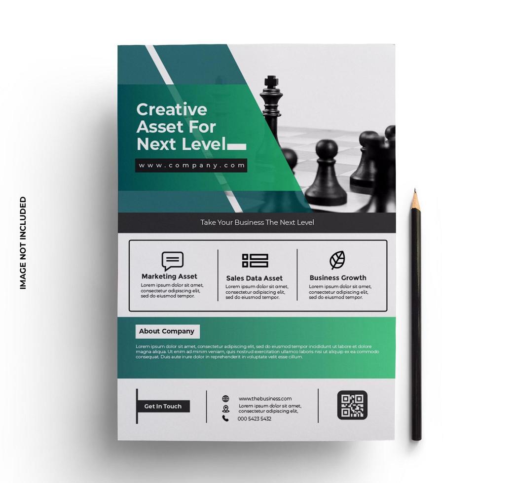 modello di layout design flyer in formato a4 vettore