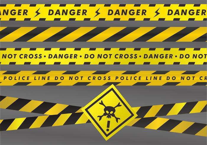 Set di nastri di pericolo vettore