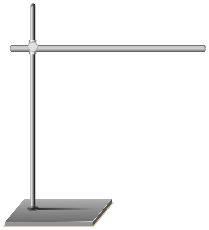 supporto da laboratorio isolato su sfondo bianco vettore
