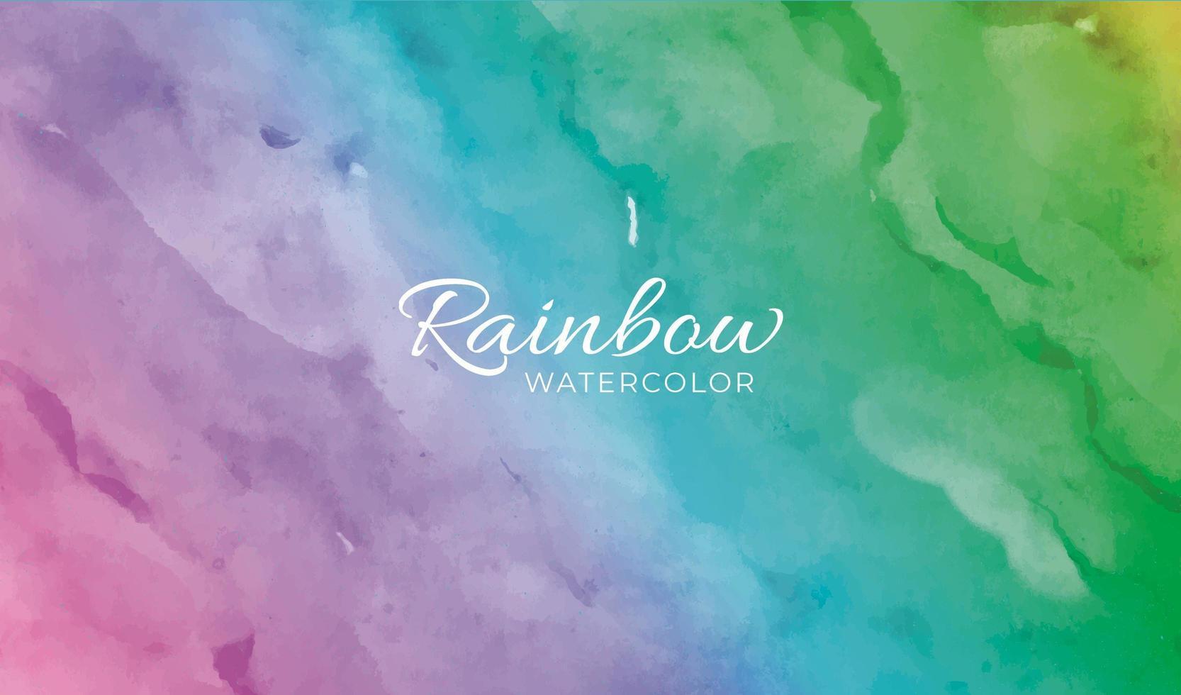 sfondo arcobaleno in acquerello vettore