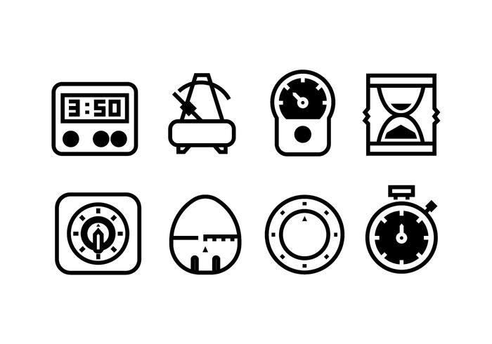 Vettori dell'icona dello strumento del temporizzatore