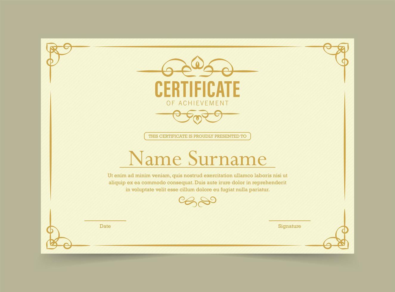 certificato di modello di realizzazione vettore