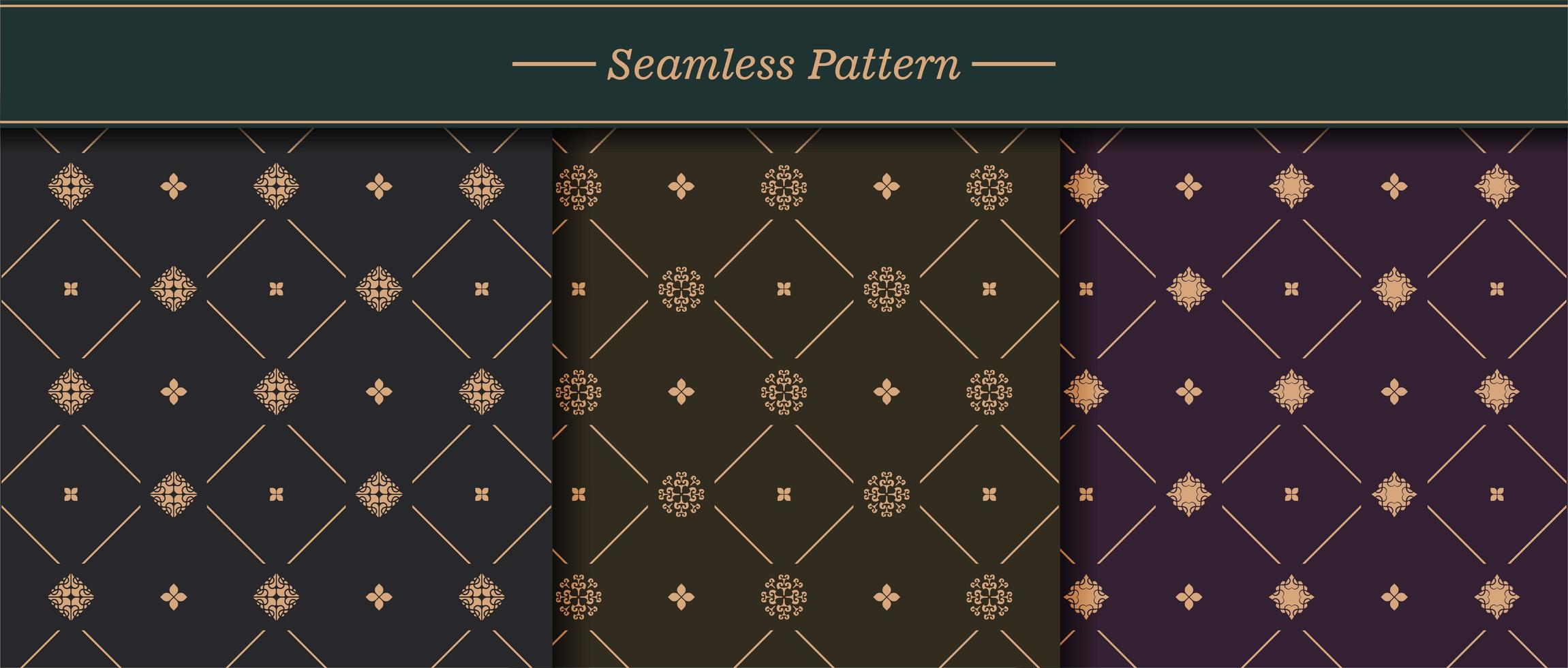 elegante seamless texture pattern impostato vettore