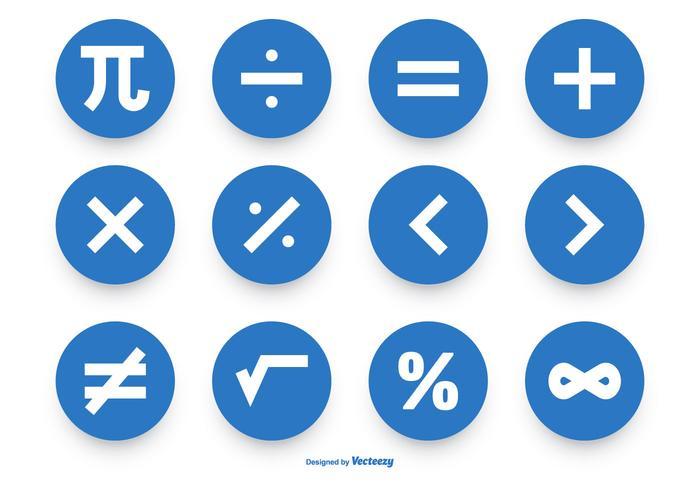 Raccolta dell'icona di vettore di simbolo di per la matematica