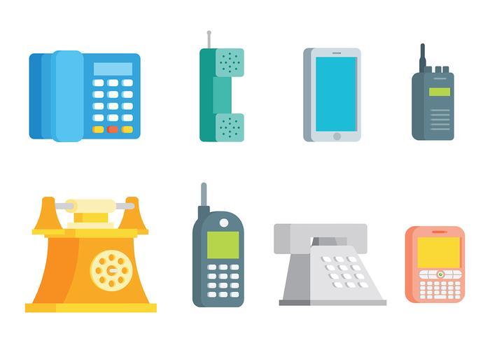 Vettore gratuito delle icone di telefono