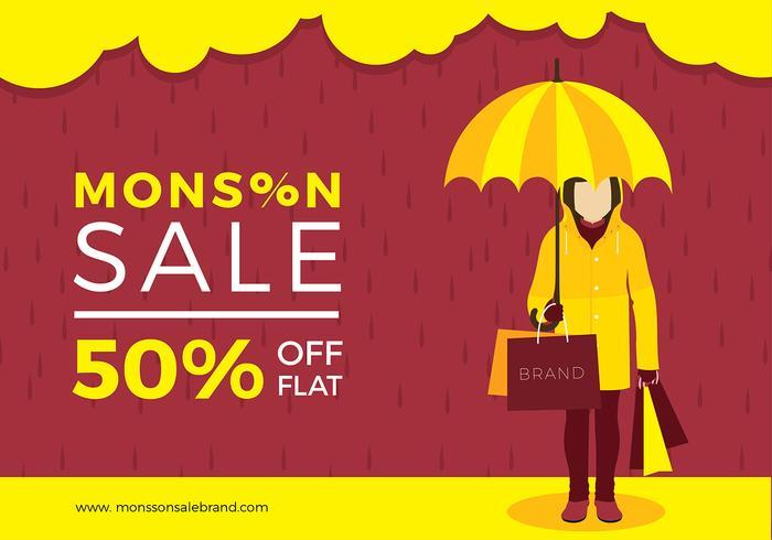 Vettore gratuito di vendita di monsone