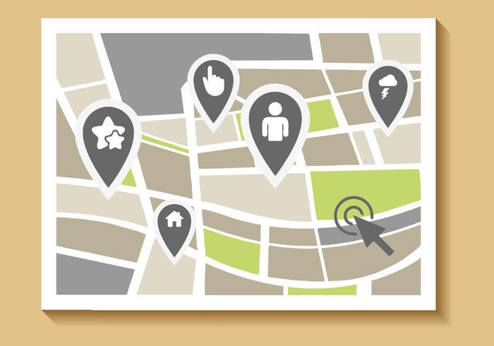 Vettore di mappa stradale