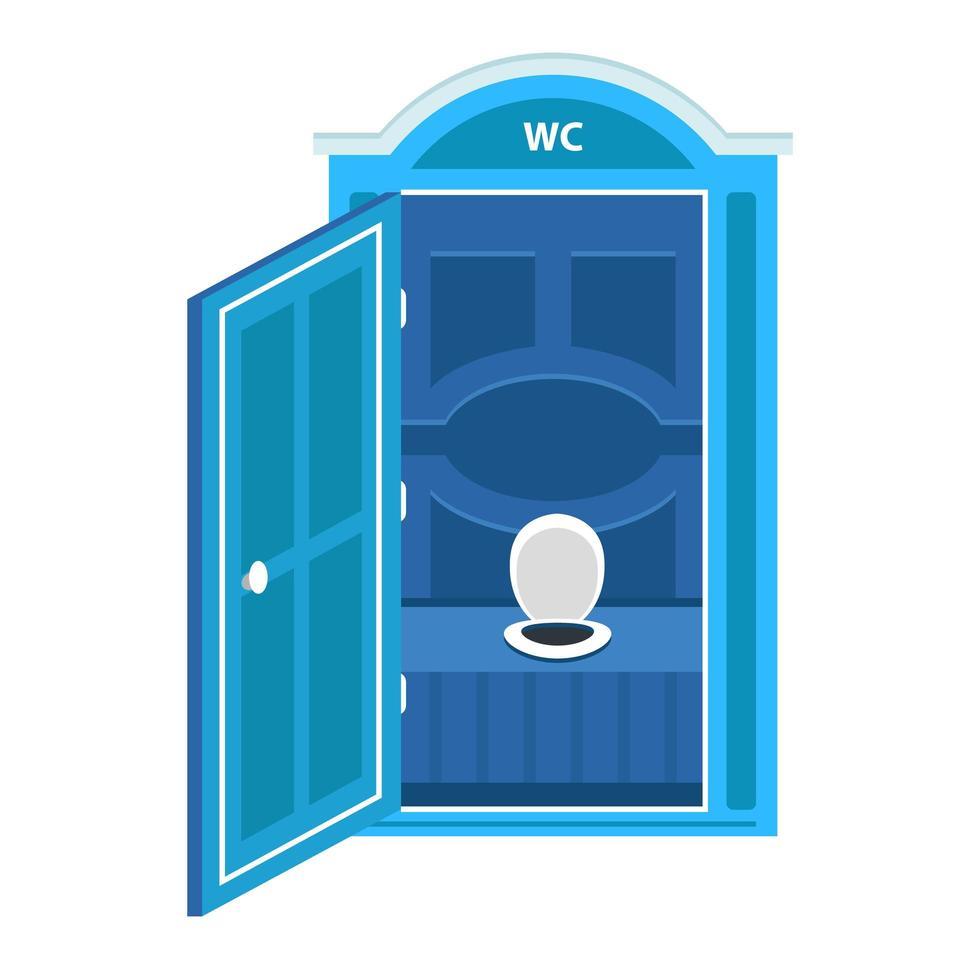 cabina armadio a secco portatile blu vettore