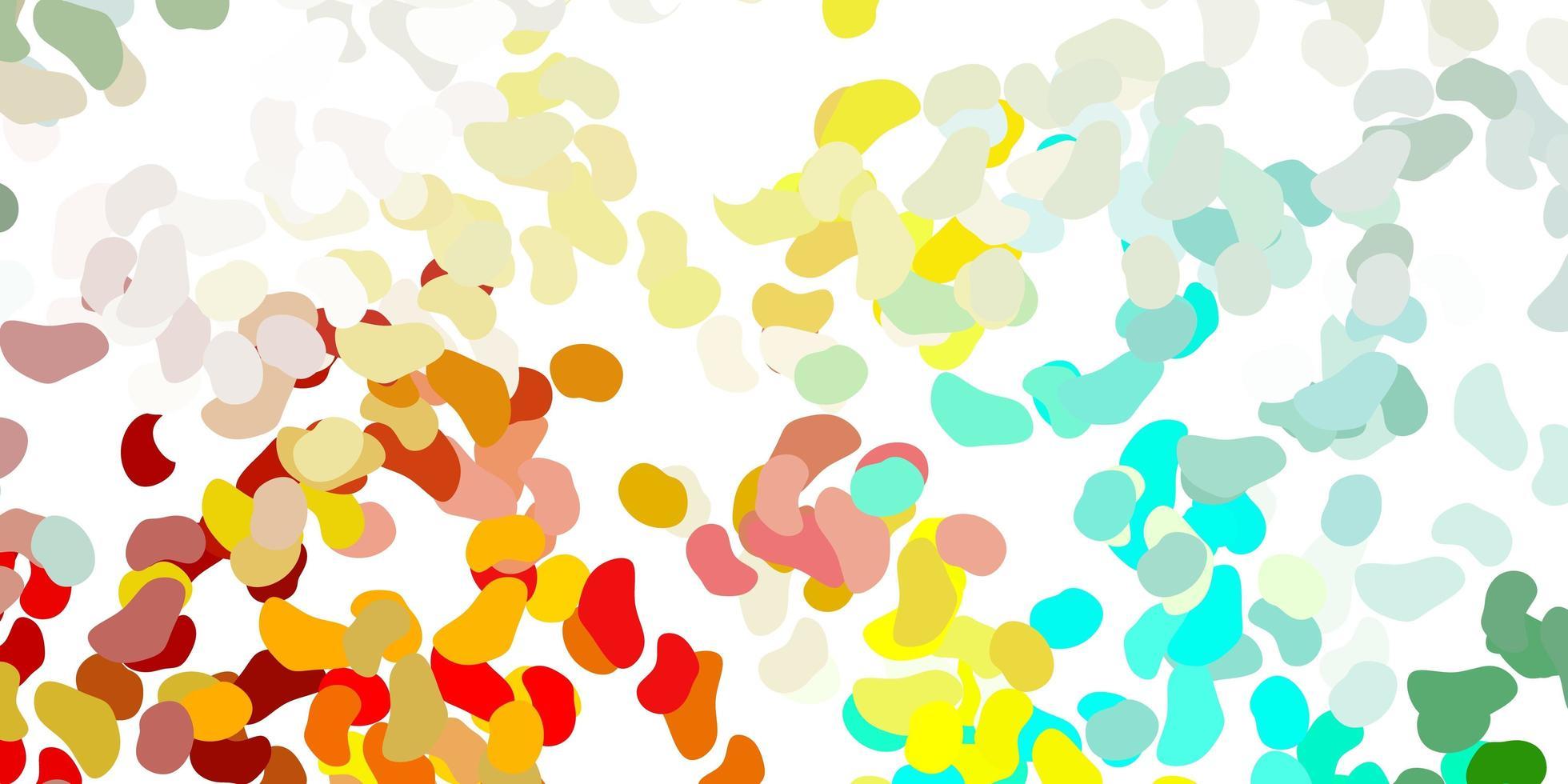 modello multicolore chiaro con forme astratte. vettore