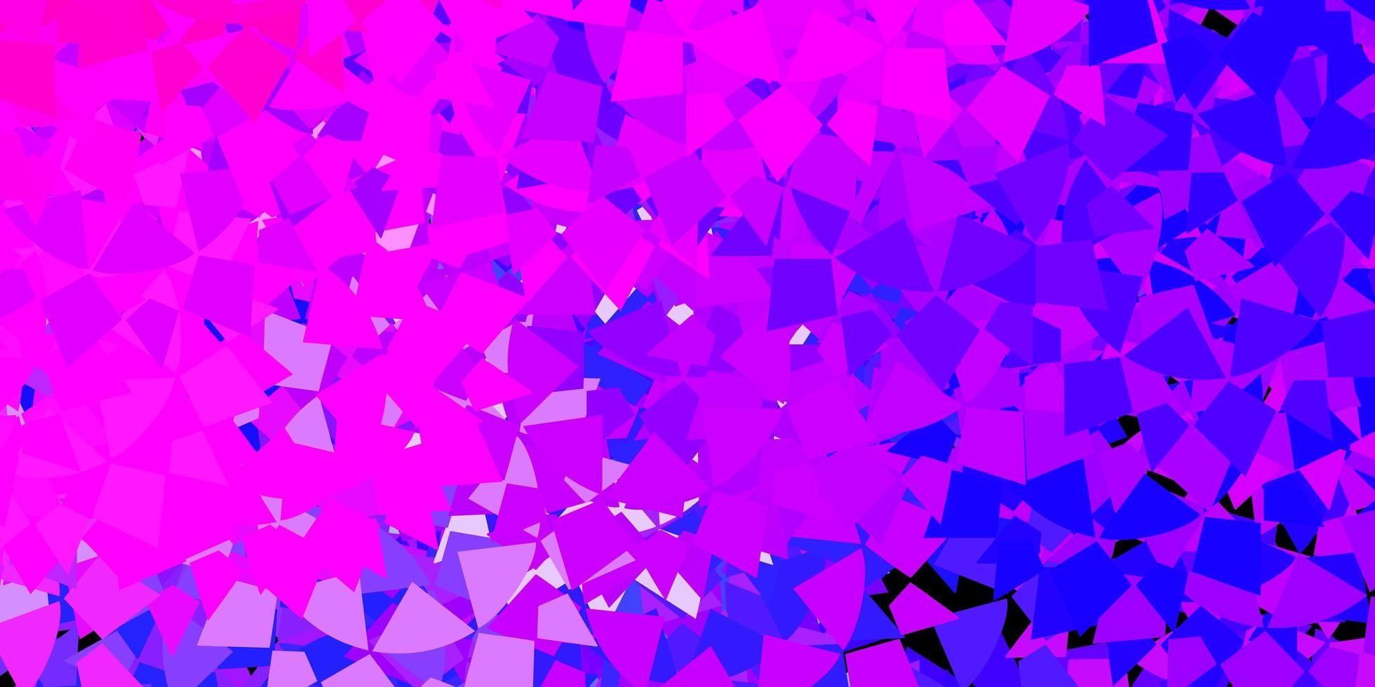 modello di forme triangolo rosa e blu vettore
