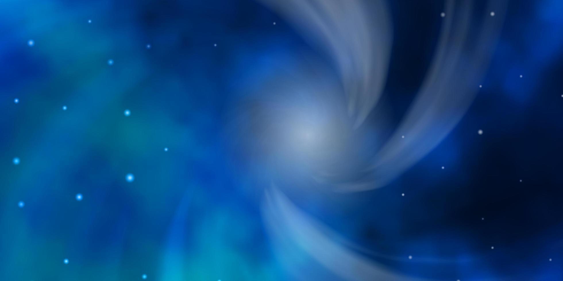 trama blu scuro con bellissime stelle. vettore