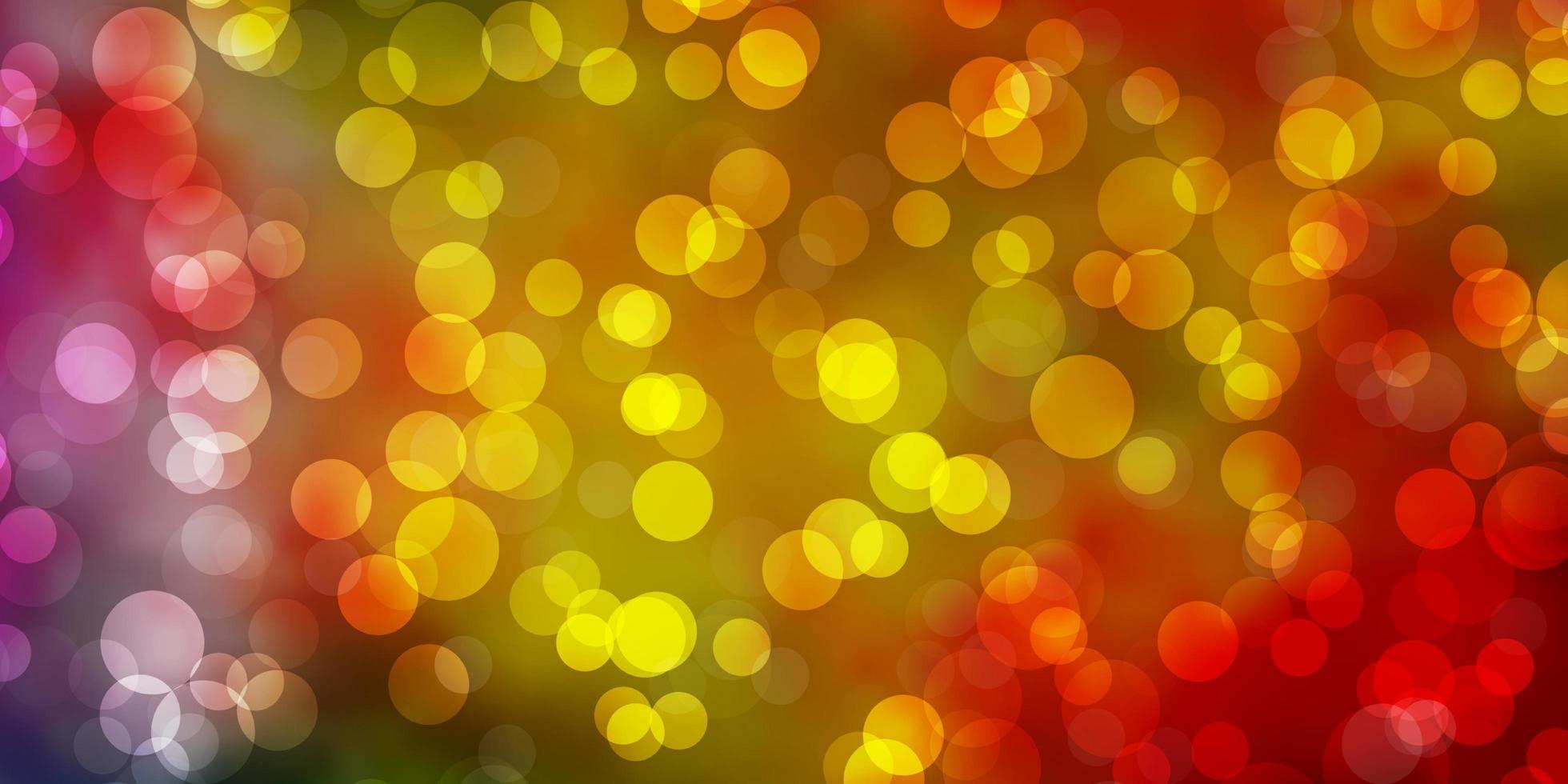 sfondo multicolore con cerchi. vettore