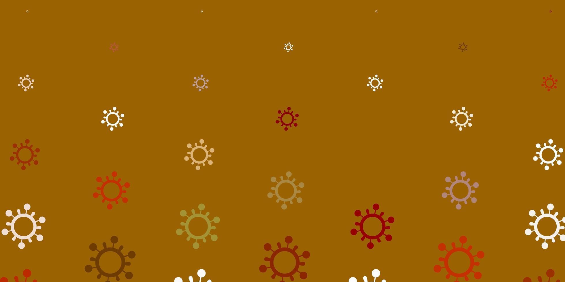 trama rossa, marrone e bianca con simboli di malattia. vettore