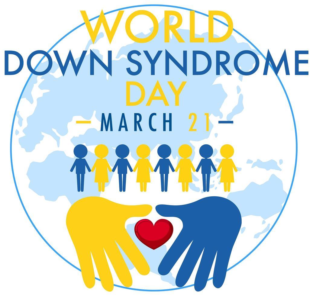 progettazione della giornata mondiale della sindrome di down vettore