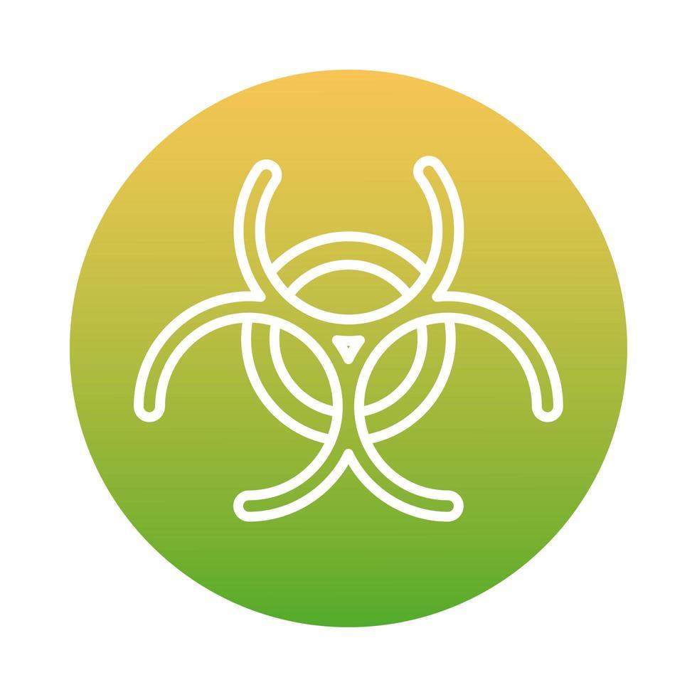 icona di stile blocco di avvertenza segnale di rischio biologico vettore