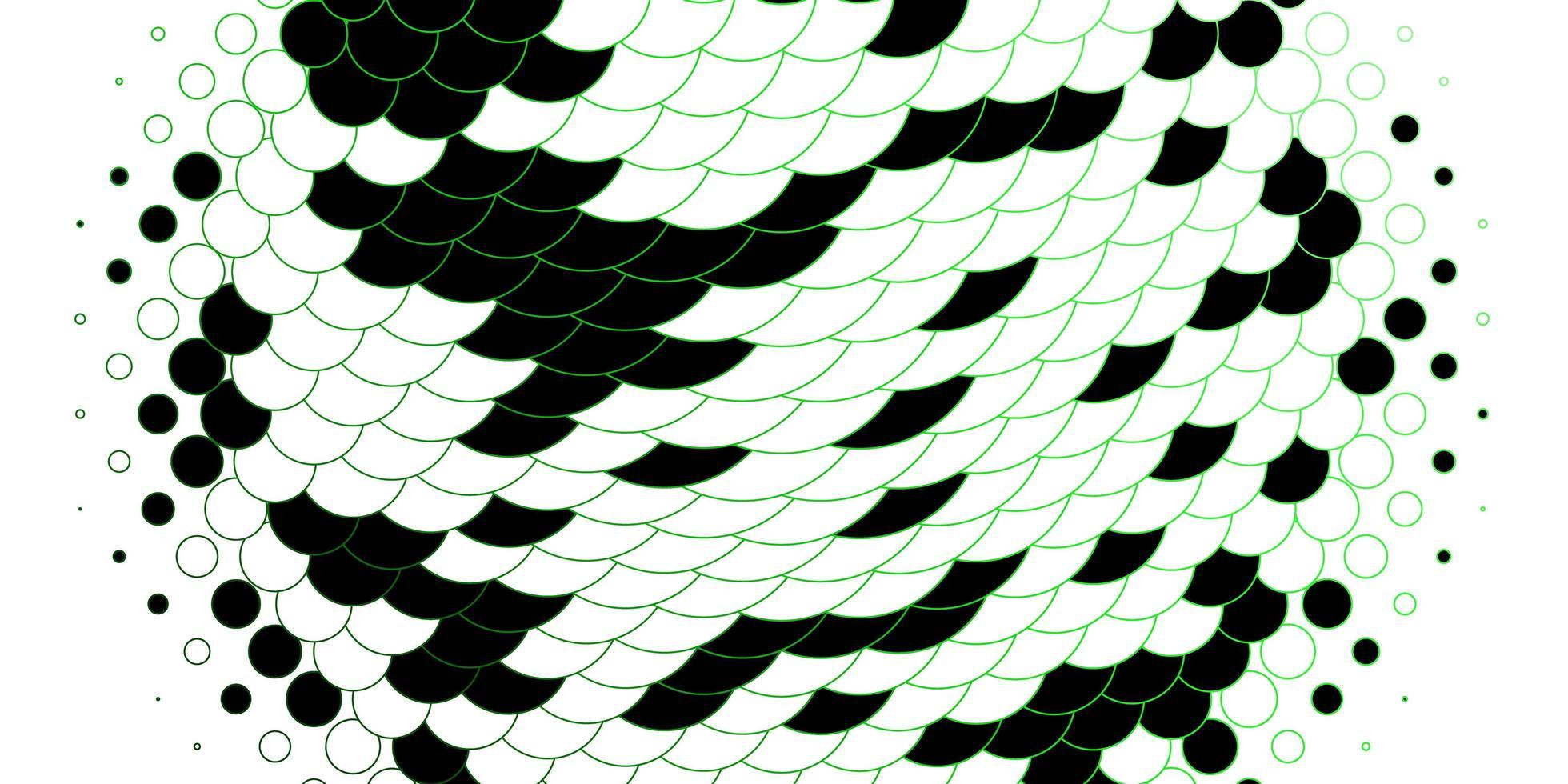 modello con cerchi delineati verdi. vettore