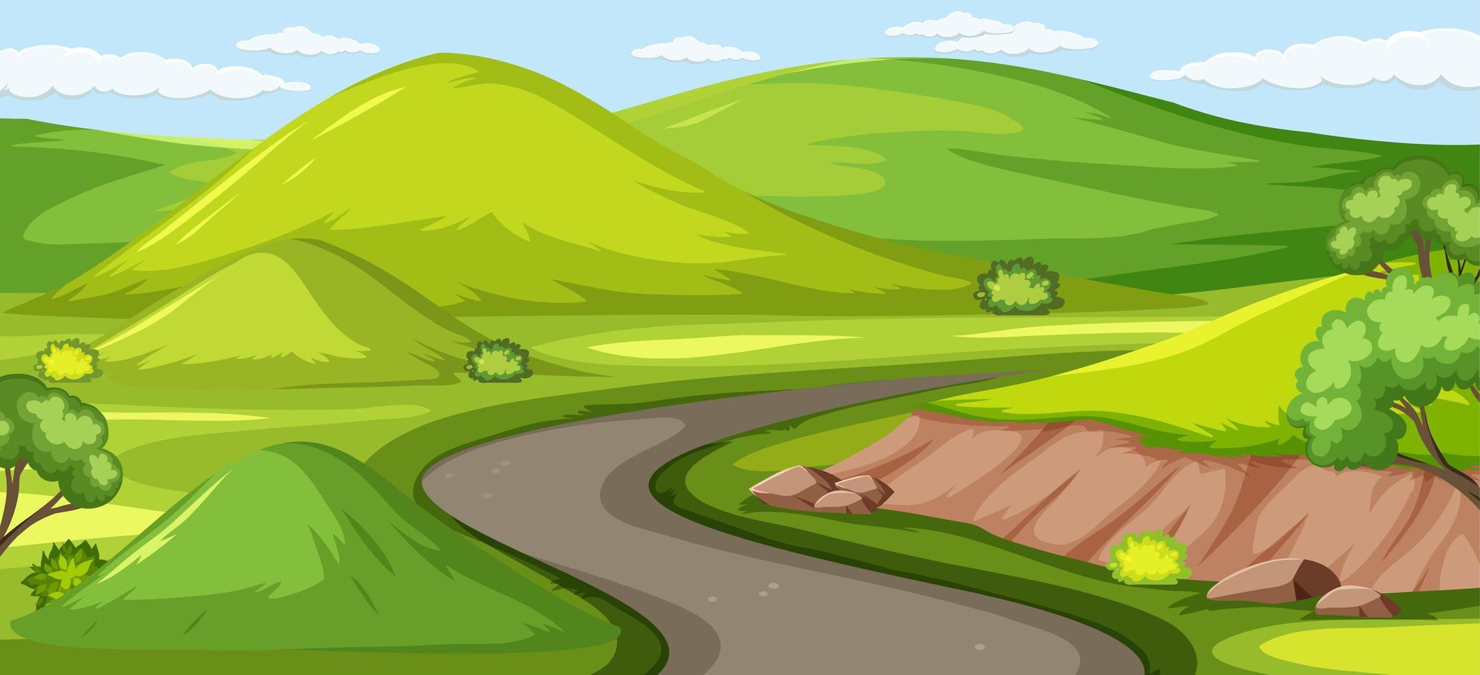 sfondo di natura verde all'aperto vettore