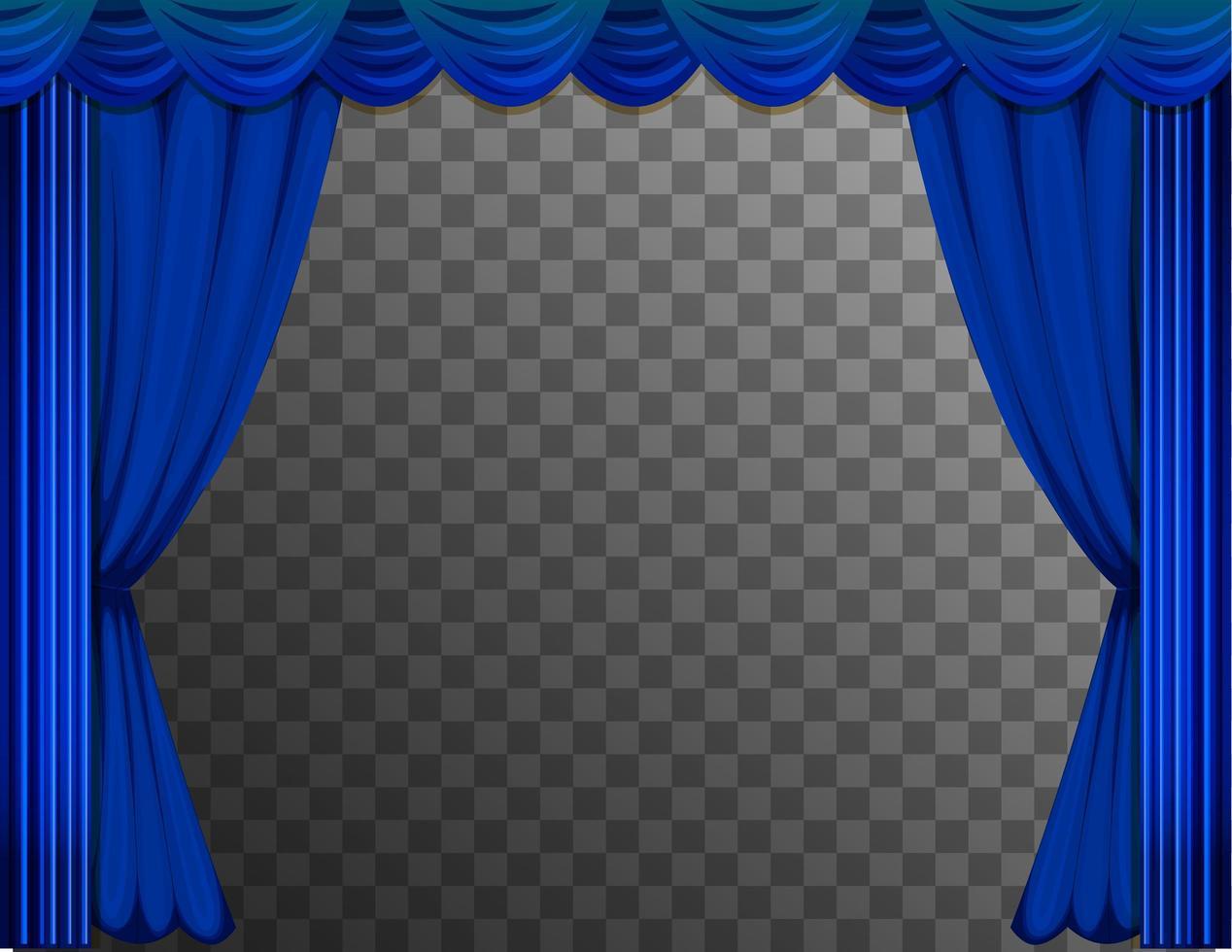 tende blu del teatro vettore