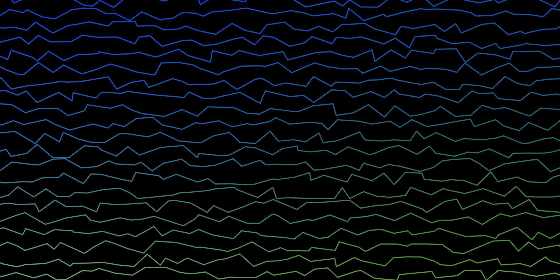 trama di linee ironiche blu e verdi. vettore