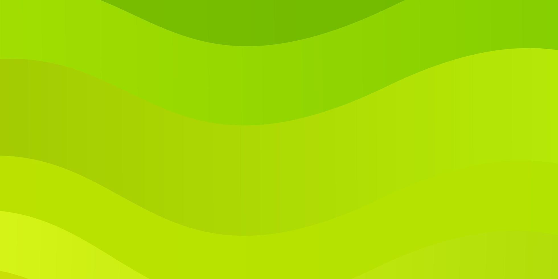 trama verde e gialla con curve. vettore