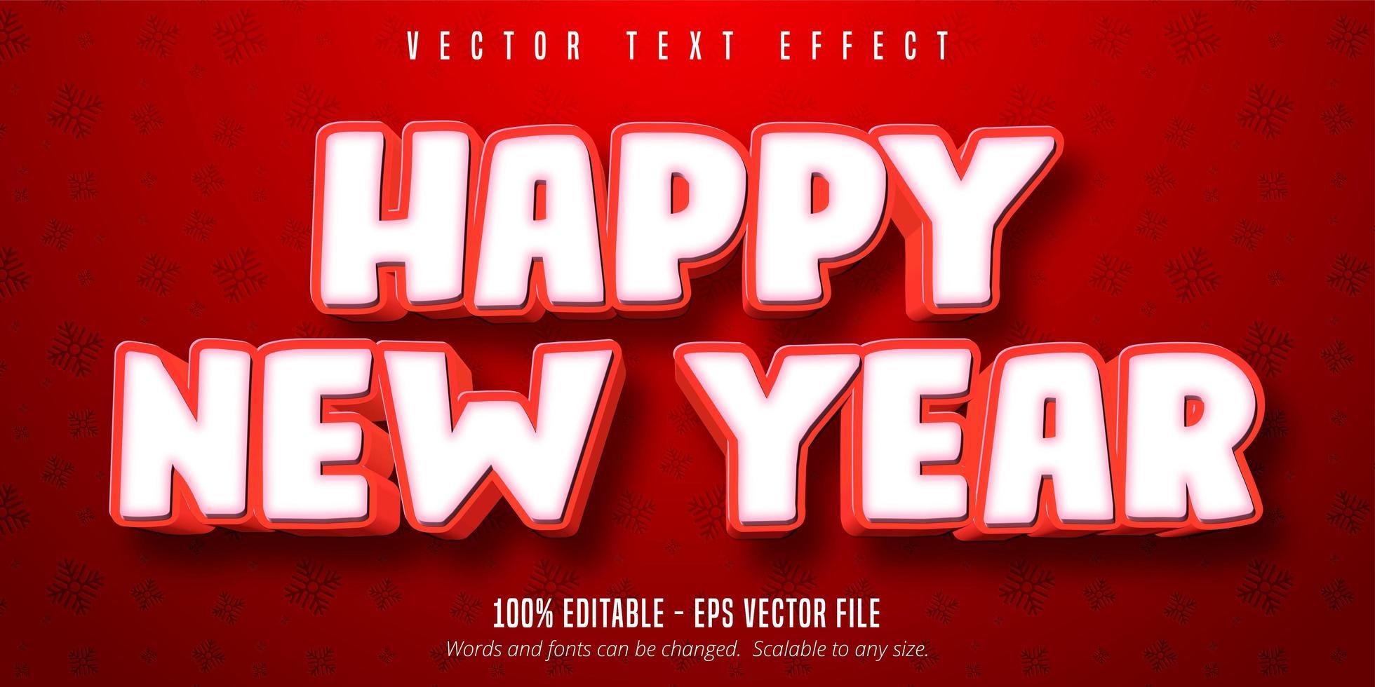 felice anno nuovo effetto testo vettore