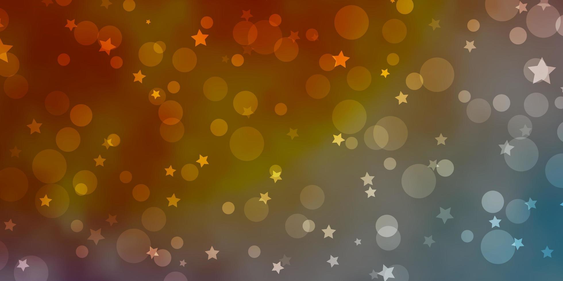 modello blu, giallo e rosso con cerchi, stelle. vettore