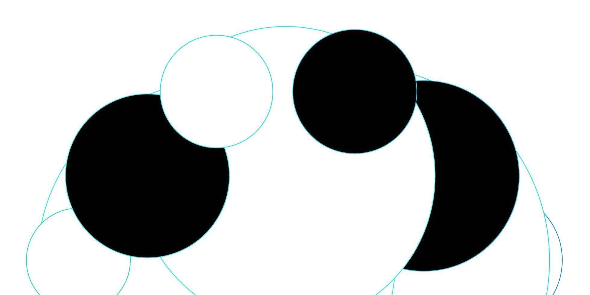 struttura dei dischi delineata blu vettore