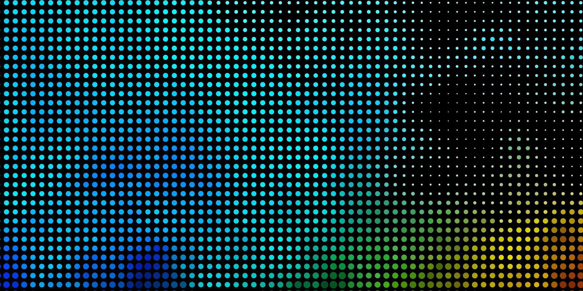 layout blu e verde con forme circolari. vettore