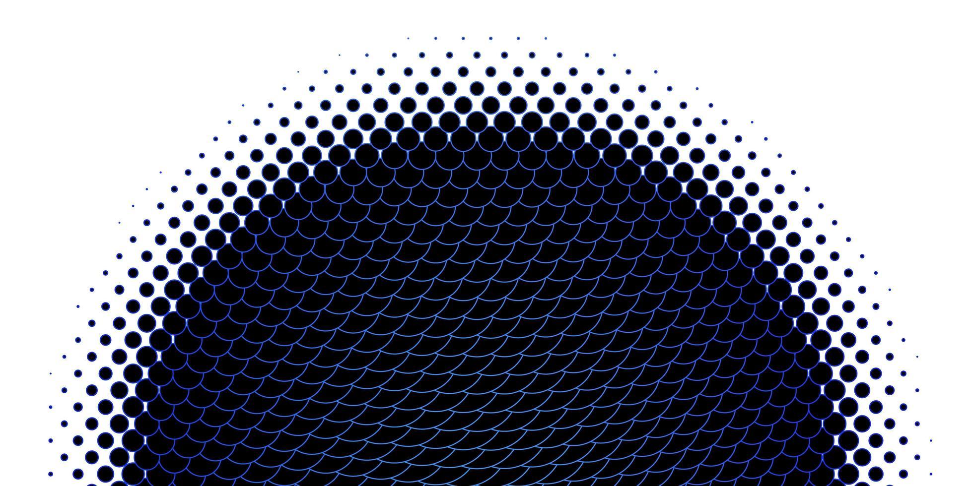 modello di cerchi delineati blu chiaro vettore
