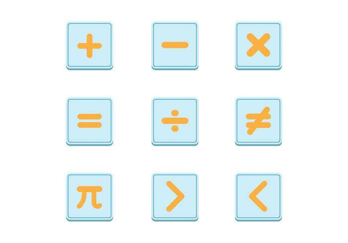 Set di simboli di simboli matematici vettore