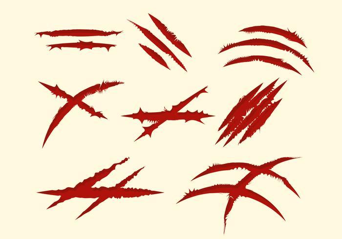 Collezione gratuita di segni rossi vettore