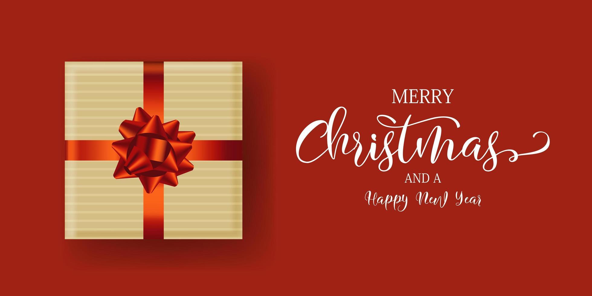 banner design regalo di Natale vettore