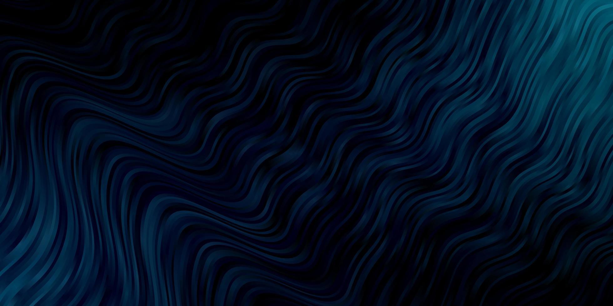 trama blu scuro con curve. vettore
