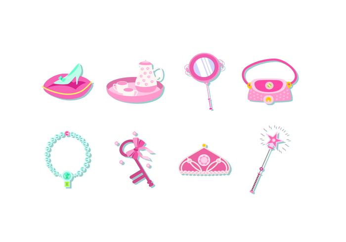 vettore gratis elemento principessa rosa