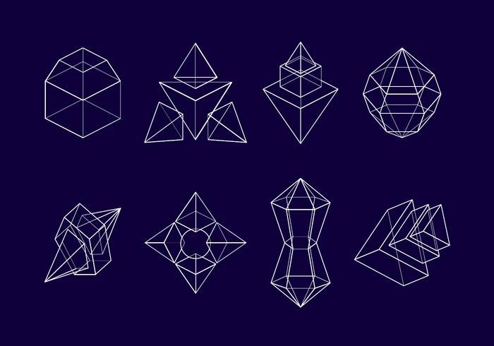Vettore del quadro del prisma