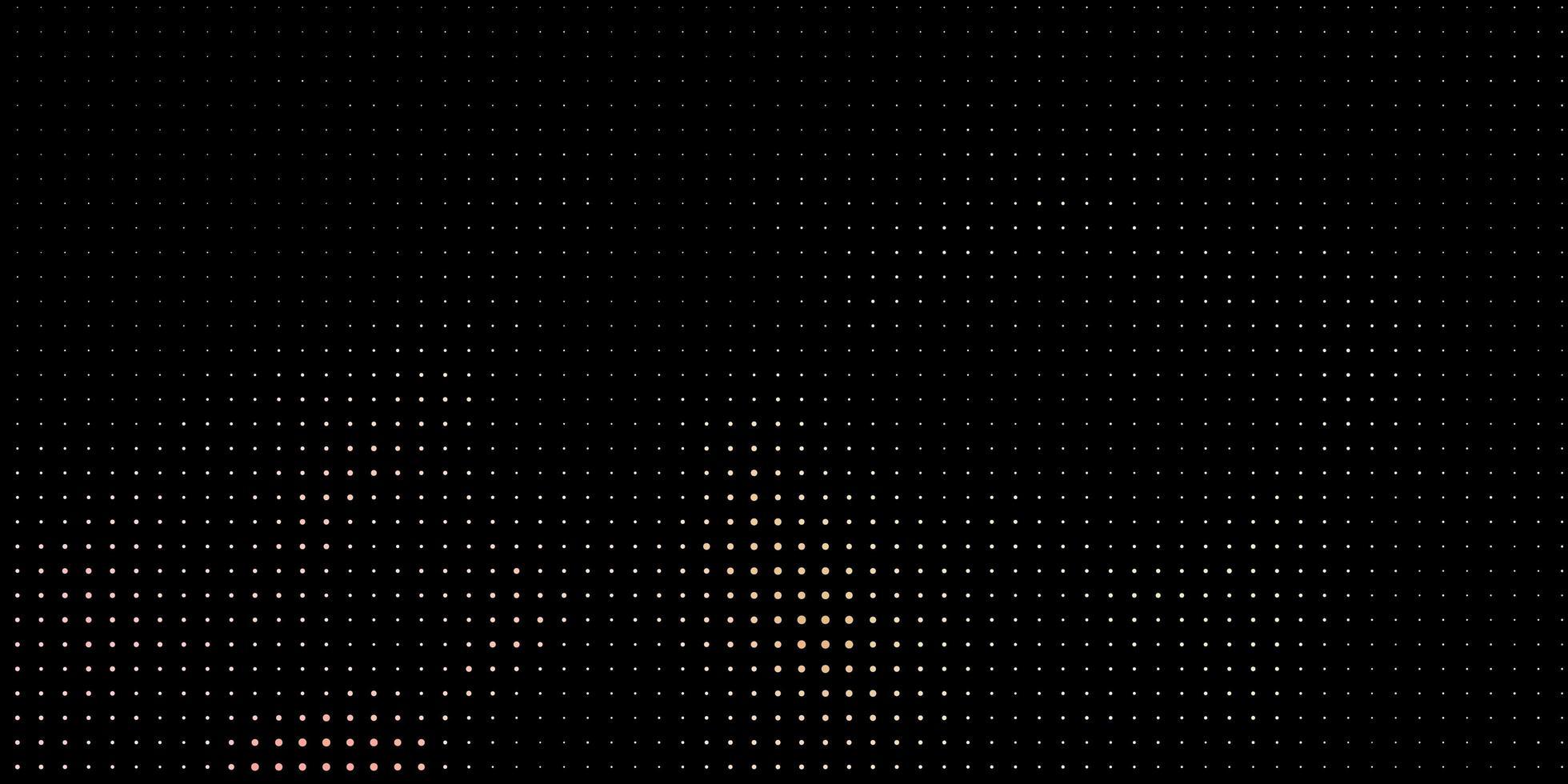 sfondo nero con puntini gialli. vettore