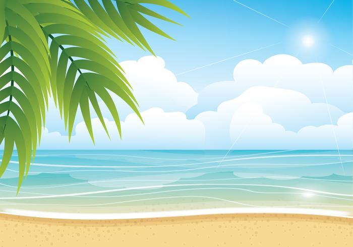 Fondo tropicale di vettore della spiaggia di estate
