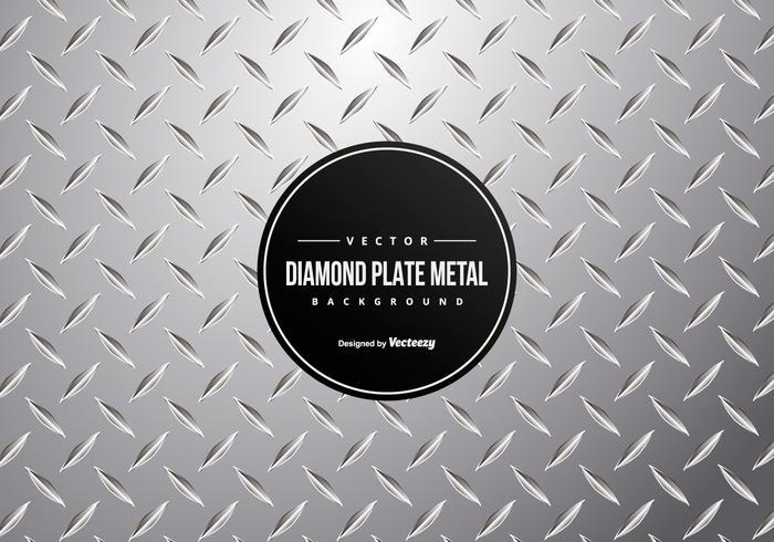 Sfondo di piastra diamantata in metallo vettore